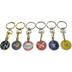 Locker Coin Trolley Token Keyrings