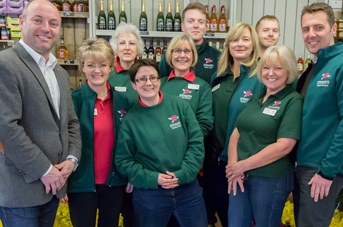 Staff at Stewarts Garden Centre Christchurch in their uniform supplied by Taylor Made Designs