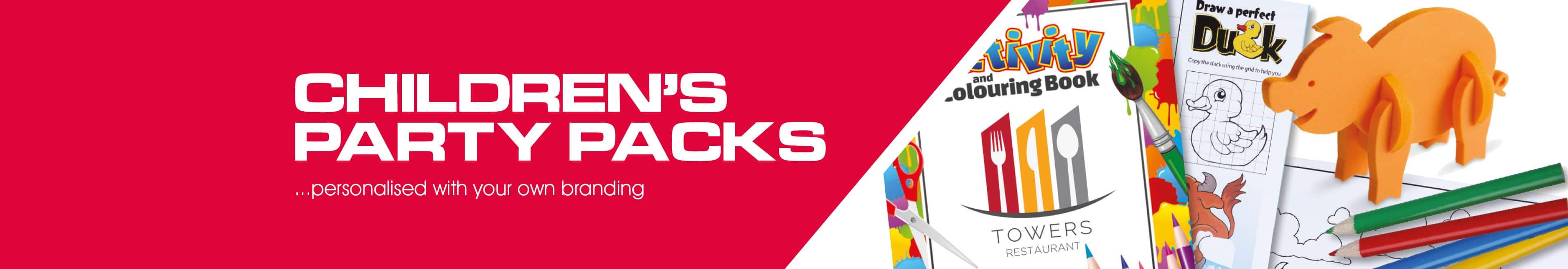 Children's Activity Packs banner